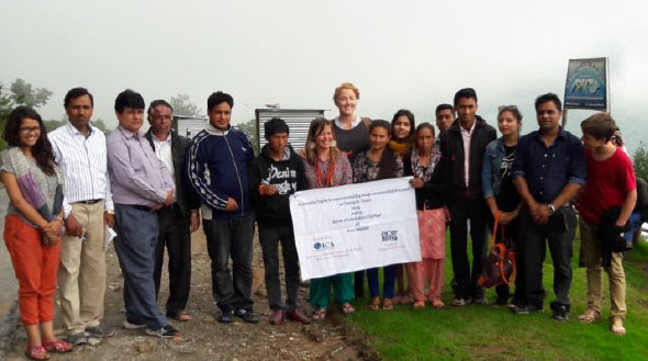 Team ICA Nepal and Ecobling in Bocha community
